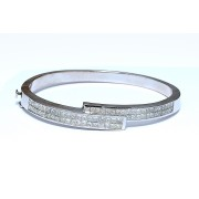14K WHITE GOLD BANGLE