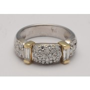 18K WHITE GOLD WITH YELLOW GOLD WEDDING BAND